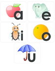 Vowels Flashcard Set AEIOU