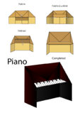 Easy Origami Instructions – Piano