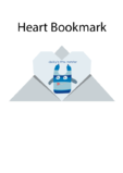 Easy Origami Instructions – Heart Bookmark