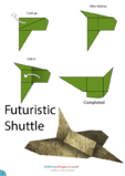 Paper Airplane Instructions – Futuristic Shuttle