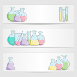 School Clipart – Beaker Set Banner