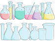 School Clipart – Beakers Empty Full