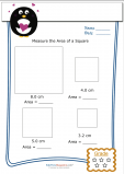 Measuring Area Worksheet – Square 5