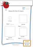Measuring Area Worksheet – Square 4