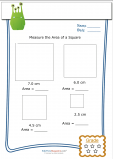 Measuring Area Worksheet – Square 2