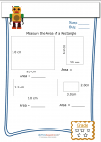 Measuring Area Worksheet – Rectangle 5