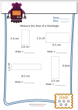 Measuring Area Worksheet – Rectangle 4