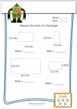 Measuring Area Worksheet – Rectangle 3