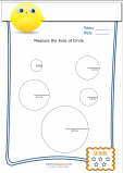 Measuring Area Worksheet – Circles 5