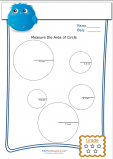 Measuring Area Worksheet – Circles 4