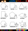 Printable Easy Shapes Coloring Page