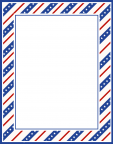 July Fourth  Stationary Border for Crafts and Writing Paper
