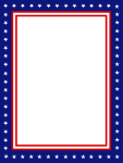 USA Presidential Stationary Border