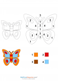 Color by Number – Butterfly 1