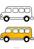 Match Up Coloring Pages – School Bus