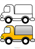 Match Up Coloring Pages – Delivery Truck