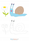 Coloring Match – Snail