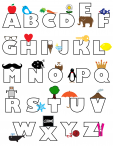 Simple Coloring Page – Alphabet