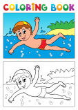 Advanced Coloring Page – Swimming