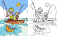 Advanced Coloring Page – Gone Fishing