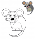 Preschool Color Match – Mouse