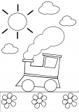 Preschool Coloring Page – Train