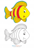 Fill in the Color – Yellow Fish