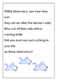Three Blind Mice Nursery Rhyme