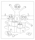 Summer Coloring Pages – Sandcastle