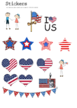 4th of July Sticker Clipart