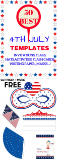 USA Party Crown Printable PDF Template