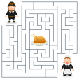 Thanksgiving maze game for children