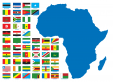 African Countries Printable Map