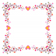 Hearts and Swirls Frame