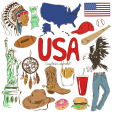 USA Culture Map Printable