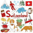 Switzerland Culture Map Printable