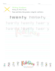 Writing Numbers in Words - Twenty