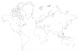 Blank Map of the World