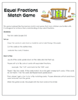Equal Fractions Match Game