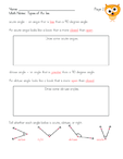 Math Notes: Types of Angles