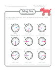 Telling Time Practice 6