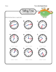Telling Time Practice 8