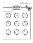 Telling Time Practice 9