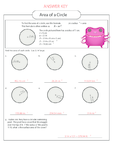 Area of a Circle Worksheet 1