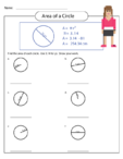 Area of a Circle Worksheet 3