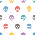 Colorful Skulls Wall Poster