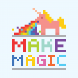 Pixelated Unicorn Wall Poster