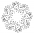 Flowers Advanced Coloring Pages 19