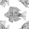 Fish Everywhere Coloring Page