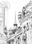 Prague Castle Coloring Page